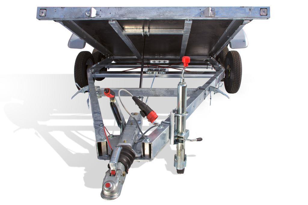 Remolque Porta Coches basculante nuevo con doble chasis | Remolque.net