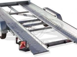 Remolque Porta vehículos basculante hidráulico manual