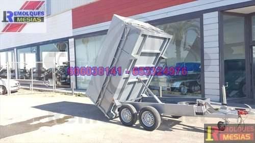 Remolque basculante hidráulico manual 2 ejes