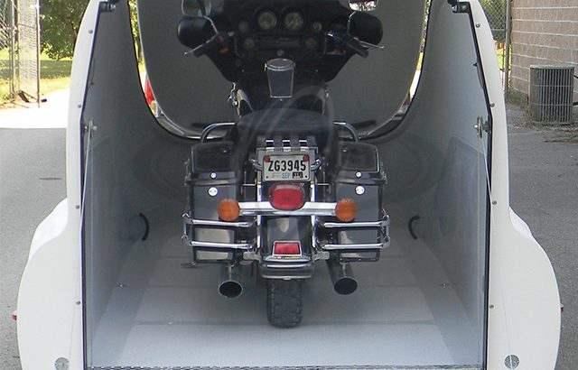 Streamline Flip Top Remolque de la Motocicleta