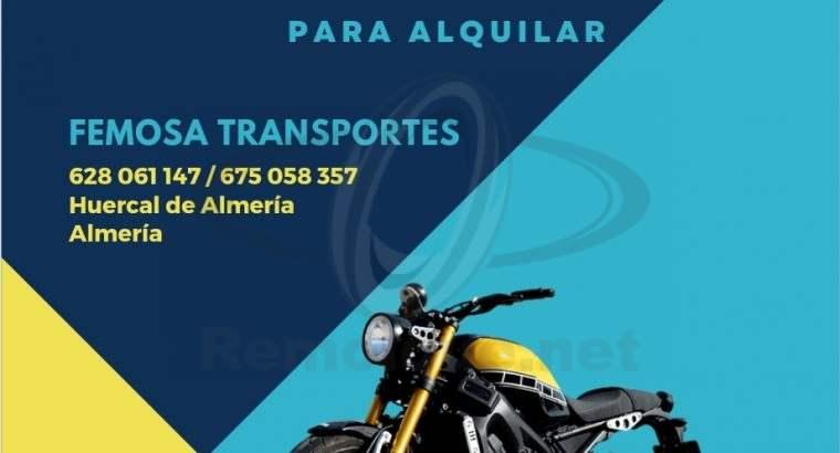 Alquiler de remolques para motos en Almeria